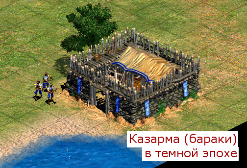 Казарма (бараки) в Age of Empires 2