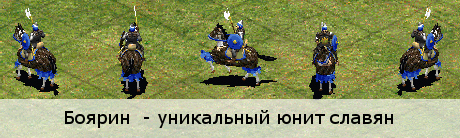 Боярин - уникальный юнит славян (Age of Empires 2)